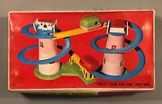 Vintage 1970s Train Circuit Spiral Plastic Battery Operated New In Box Greek
