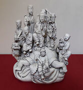 Old And Antique Chinese 19thc Figurines Statue With Dehua And He Chaozong Marks