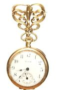 Vintage Ladies 0s Elgin 14k Yellow Gold Pendant Pocket Watch With Brooch/pin 30g