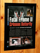 Fatal Frame Ii 2 Crimson Butterfly Small Poster / Old Ad Page Framed Ps2 Xbox
