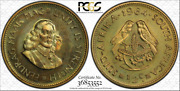 1964 South Africa 1/2 Cent Pcgs Pr65 Proof Color Toned Coin In High Grade