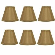 Bronze Silk Empire 5 Inch Clip On Chandelier Lamp Shade Set Of Six Shades