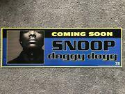 Rare Snoop Doggy Dogg Doggystyle Death Row Records Promo Poster Dr Dre Hip Hop