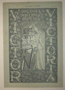 Vintage 1896 Will Bradley Art Nouveau Illustration For Victor Victoria Bicycles