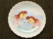 Very Rare Collectible Singapore Airlines Goldfish Plate In Excellent Condition