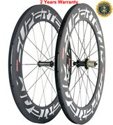 88mm Carbon Wheels Clincher 23mm Width Cycle Carbon Wheelset Powerway R36 Hub