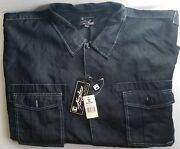 Nwt Kani Jeans Mens Size 6x Button Down Western Style Shirt Techo Blue 92 Tag