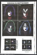Kiss Rare 1978 Printers Make Ready Sheet With Poster And Box Set Images On Front