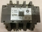 Used Westinghouse Size 4 5pole 135amps 120vac Coil 100hp Contactor A201k4ea