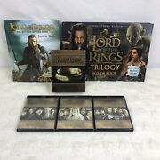 Lot Of 2 Lord Of The Rings Puzzle Books And Extended Edition Trilogy Blu Ray Dvd