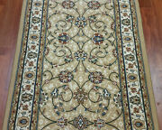 Rug Depot Traditional Oriental Hall And Stair Rug Runner - 26 Wide Light Gold
