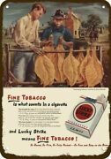 1947 Lucky Strike Cigarettes Vintage Look Decorative Metal Sign - Aaron Bohrod A