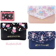 Sanrio Card Holder Coin Purse Leather Wallet Bag Case Pouch +id Window Key Chain