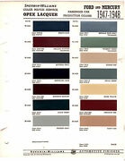 1947 1948 Ford And Mercury 47 48 Colors Paint Chips 4748 Sherwin Williams
