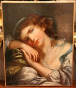 Beautiful Woman Portrait Painting On Canvas Woman Oil Painting Lady Painting
