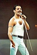 Queen /freddie Mercury @ Live Aid 16x12 Blow-up Photo Signed By Photographer