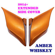 Amber Whiskey Stretched Extended Side Cover Fit 2014+ Harley Street Road Glide