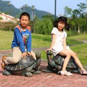 Chic Tortoise And Frog Giant Home Garden Sculpture Lawn Yard Statue 0031