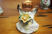 Vintage Lefton Angel Of The Month Andndash March - 5224 With Rhinestone