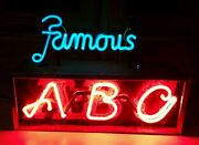 Aztec Brewing Company Neon Famous Abc 1930and039s Original Rare Beer Sign