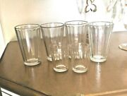6 Vintage Heavy Paneled Shot/ Shooter/jiggers And A Footed Toothpick Holder