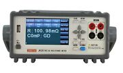 Dc Low Resistance Tester Micro Ohm Meter 0.1u-100mΩ 4.3'' Touch Sceen Usb Plc
