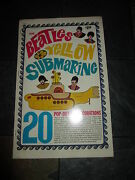 Beatles Yellow Submarine Pop Out Decoration 1968 By King Features Rare Vintage