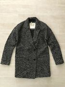 New Abercrombie And Fitch Hollister Women Double Breasted Wool Coat Jacket- S M L