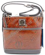 New Disney Dooney And Bourke Vacation Club Sketch Leather Crossbody Letter Carrier