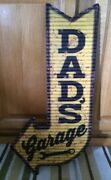 Dads Garage Ford Coupe Hot Rod Model Mobil Texaco Gas Oil Wall Decor