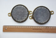 A Pair Of Russian Soviet Cataphotes For Cars And Bikes Retroreflectors 1980