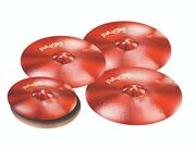 Paiste Color Sound 900 Red 6 Pc Universal Cymbal Set/w- 17-18-19 Crash Cymbals
