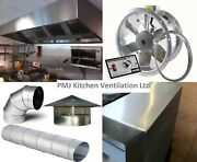 Stainless Steel Kitchen Extraction Canopy Canopies 8 Foot Package Kit Catering