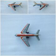 Vintage Old Ussr Soviet Russian Airplane Toy / Friction Mechanism