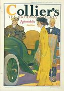 Antique Collierand039s Original National Weekly Magazine Automobile Section Two 1909