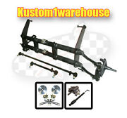 2 Inch Narrowed Vw Link King Pin Front End Beam W/drop Disc Brakes Wide 5 On 205