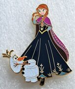 Art Of Anna With Olaf Frozen 3.5 Inch Fantasy Pin Limited Edition 50