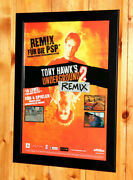 Tony Hawk's Underground 2 Rare Small Poster / Old Ad Page Framed Ps2 Xbox