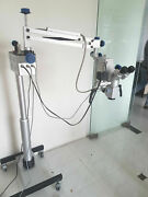 3 Step Dental Microscope Wit Accessories And Led Monitor - Silver - Free Ship
