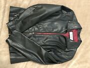 Wilsons Leather Women's Zip Up Black Leather Jacket Small
