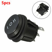 5pcs Waterproof 3 Position 3 Pin On Of On Round Rocker Switch Spdt For Car Boat