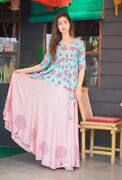 Beautiful Rayon Printed Skirt With Best Light Embroidery Top Awesome Color.