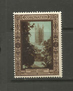 Gb/uk 1937 Kg Vi Coronation Poster Stamp Angel Tower, Canterbury Cathedral