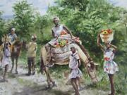 Well Done Vintage 1979 Jack Lestrade Watercolor Of Black Children In Haiti