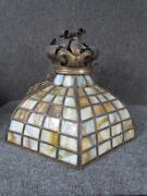 Antique Arts And Crafts Hanging Leaded Lamp Shade, Crown Top, Attr. To Handel