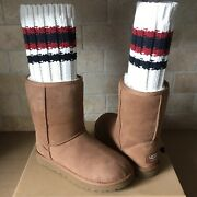 Ugg X Sacai Knit Classic Short Ii Chestnut Suede Boots Size Us 7 Womens Limited