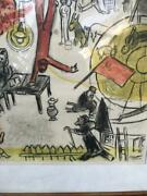 Oem Marc Chagall 1933-1950 Lithography. The Revolution.