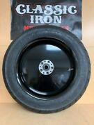 R C Components Solid Black Rear Wheel W/ Tire For Harley-davidson Rushmore Model