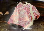 Girls Carseat Canopy Baby Car Seat Canopy Cover Blanket Cotton New Sprinkled