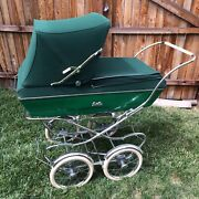 Vintage Bilt-rite Baby Stroller Carriage Pram 1950andrsquos Beautiful Green Buggy